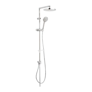 Tre Mercati Poppy Rigid Riser Shower Pole With Fixed Head & Multi Function Handset (For Exposed Shower Valves)