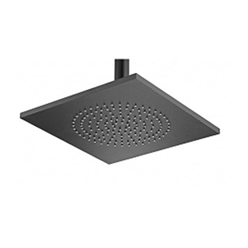Tre Mercati Aluminium Square Shower Rose & Swivel - 240mm - Matt Black