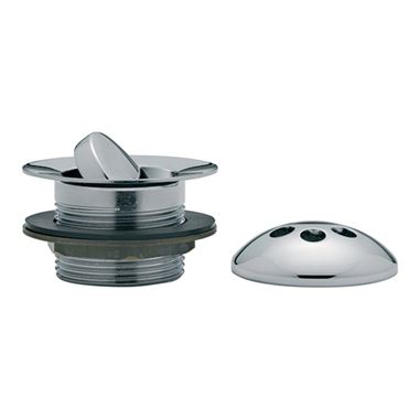 Tre Mercati Flip Bath Plug Waste With Solid Plug & Overflow