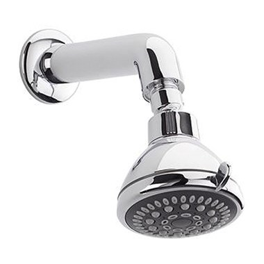 Tre Mercati Fred Round Multi Function Fixed Shower Head & Millenium Wall Arm