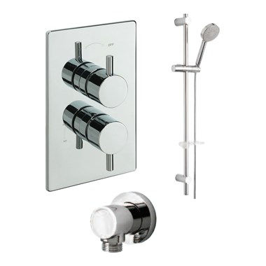 Tre Mercati Bella Concealed 1 Outlet Thermostatic Shower Valve Kit 2