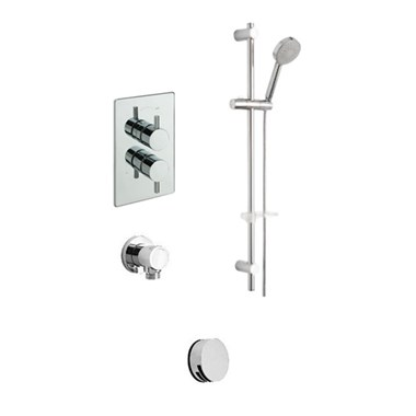 Tre Mercati Bella Concealed 2 Outlet Thermostatic Bath & Shower Valve Kit 2