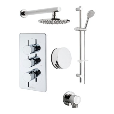 Tre Mercati Bella Concealed 3 Outlet Thermostatic Bath & Shower Valve Kit 1