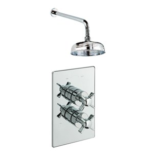 Tre Mercati Traditional Concealed 1 Outlet Thermostatic Shower Valve Kit 1