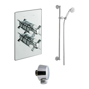Tre Mercati Traditional Concealed 1 Outlet Thermostatic Shower Valve Kit 2