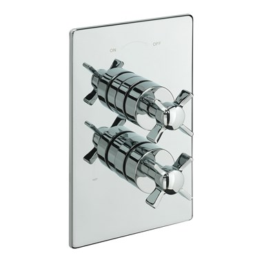 Tre Mercati Traditional Concealed 2 Outlet Thermostatic Shower Valve With Diverter