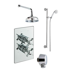 Tre Mercati Traditional Concealed 2 Outlet Thermostatic Shower Valve Kit 1