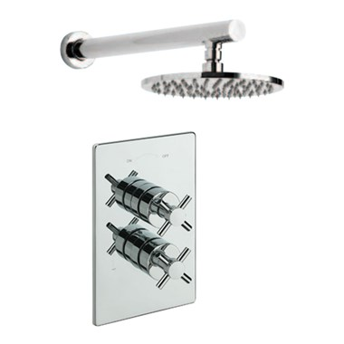 Tre Mercati Erin Concealed 1 Outlet Thermostatic Shower Valve Kit 1