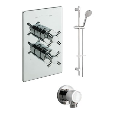 Tre Mercati Erin Concealed 1 Outlet Thermostatic Shower Valve Kit 2