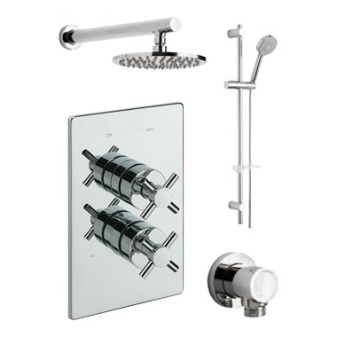 Tre Mercati Erin Concealed 2 Outlet Thermostatic Shower Valve Kit 1