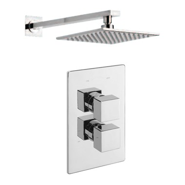 Tre Mercati Geysir Concealed 1 Outlet Thermostatic Shower Valve Kit 1