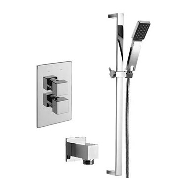 Tre Mercati Geysir Concealed 1 Outlet Thermostatic Shower Valve Kit 2