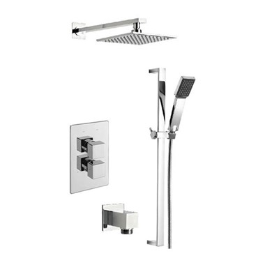 Tre Mercati Geysir Concealed 2 Outlet Thermostatic Shower Valve Kit 1