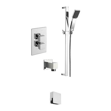 Tre Mercati Geysir Concealed 2 Outlet Thermostatic Bath & Shower Valve Kit 2