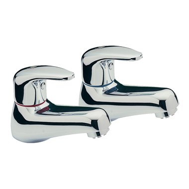 Tre Mercati Modena Basin Taps (Pair) - Chrome