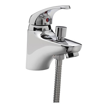 Tre Mercati Modena Mono Bath Shower Mixer & Kit - Chrome