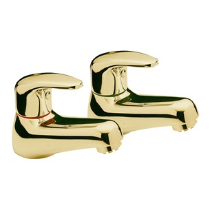 Tre Mercati Modena Basin Taps (Pair) - Antique Gold