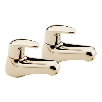 Tre Mercati Modena Bath Taps (Pair) - Antique Gold