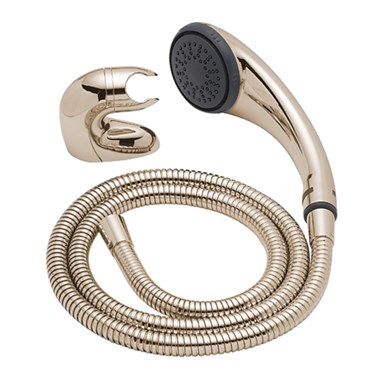 Tre Mercati Modena Mini Curved Shower Kit - Antique Gold