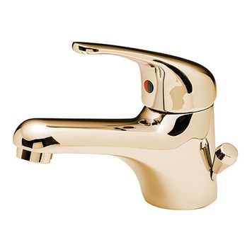 Tre Mercati Modena Mono Basin Mixer With Side Pop Up Waste - Antique Gold
