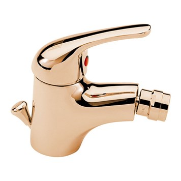 Tre Mercati Modena Mono Bidet Mixer With Pop Up Waste - Antique Gold