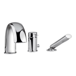 Tre Mercati Bella Deck Mounted 3 Hole Bath Shower Mixer & Kit