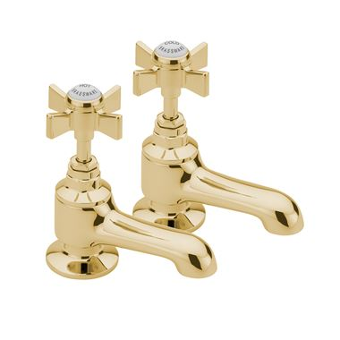 Tre Mercati Florence Bath Taps (Pair) - Antique Gold
