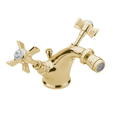 Tre Mercati Florence Mono Bidet Mixer With Pop Up Waste - Antique Gold