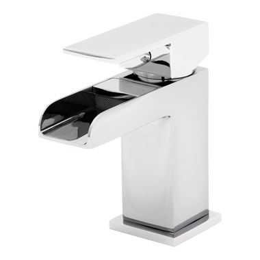 Tre Mercati Geysir Mono Waterfall Basin Mixer With Click Clack Waste