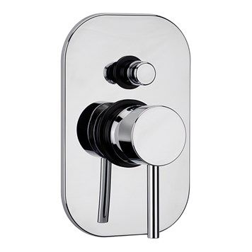 Tre Mercati Milan Concealed Manual Shower Valve With Push Button Diverter