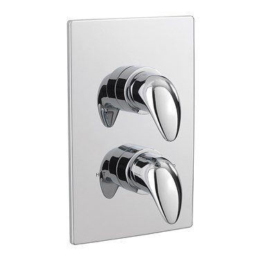 Tre Mercati Modena 1 Outlet Concealed Thermostatic Shower Valve - Chrome