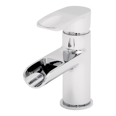 Tre Mercati Ora Mono Waterfall Basin Mixer with Clicker Waste