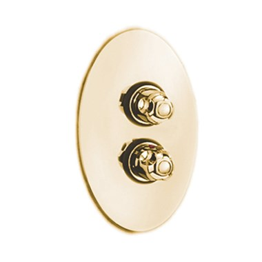 Tre Mercati Roma 1 Outlet Concealed Thermostatic Shower Valve - Antique Gold