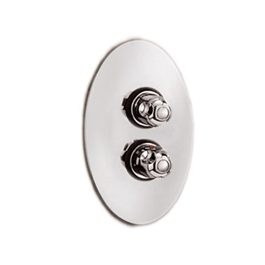 Tre Mercati Roma 1 Outlet Concealed Thermostatic Shower Valve - Chrome