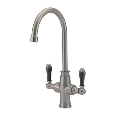 Tre Mercati Victoria Nero Mono Kitchen Mixer - Brushed Nickel
