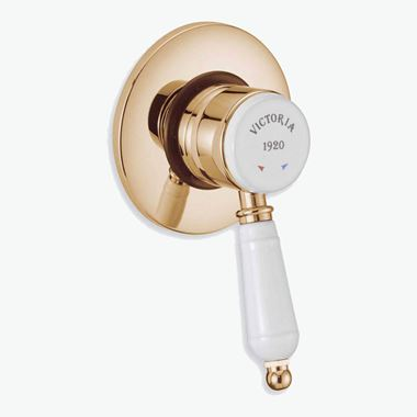 Tre Mercati Victora Exposed/Concealed Manual Shower Valve - Antique Gold