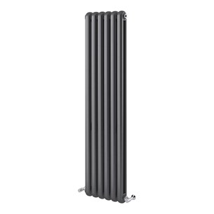 Brenton Saturnia Anthracite Vertical Column Radiator - 1500 x 380mm