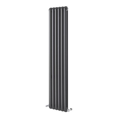 Brenton Saturnia Anthracite Vertical Column Radiator - 1800 x 380mm