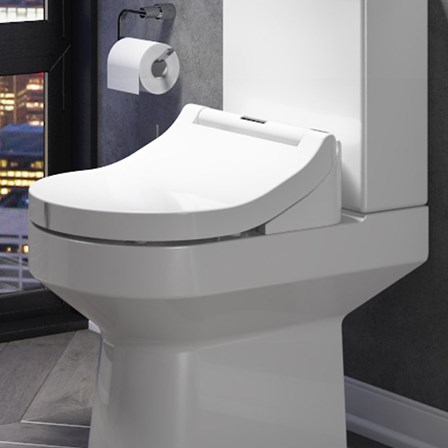 Smart Toilet With Adjustable Bidet Wash Function Heated