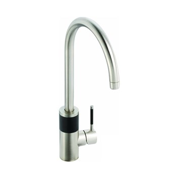 Abode Triana Aquifier Filtered Water Mono Kitchen Mixer - Brushed Nickel & Black