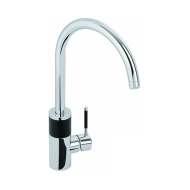 Abode Triana Aquifier Filtered Water Mono Kitchen Mixer - Chrome & Black