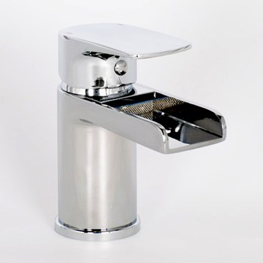 Vellamo Tugela Mini Waterfall Basin Mixer & Clicker Waste
