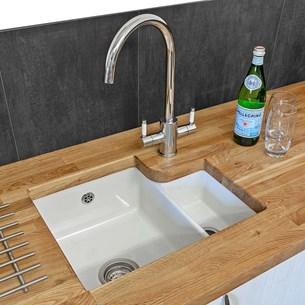 Reginox Tuscany 1 5 Bowl Undermount Ceramic Sink Waste White Glaze