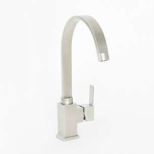 TW Rhu Kitchen Sink Mixer Tap - Stainless Steel