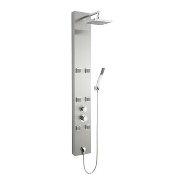 Ultra Easton Stainless Steel Thermostatic Shower Tower with 6 Swivel Bodyjets