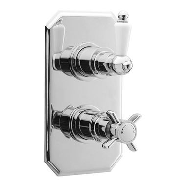 Ultra Beaumont Twin Thermostatic Shower Valve Traditional Plate