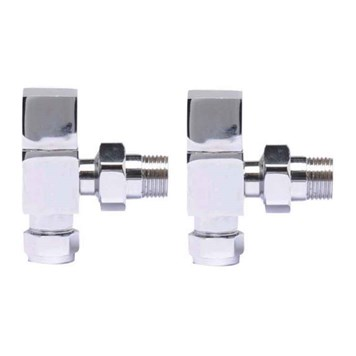 Ultra Pure Square Radiator Valve Pack Angled