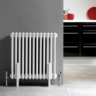 Hudson Reed Colosseum White Triple Column Traditional Radiator