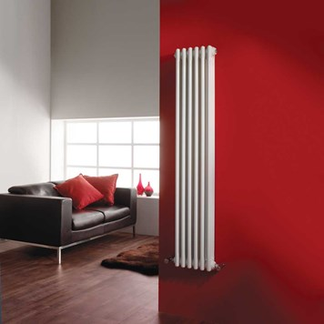 Ultra White Colosseum Triple Radiator 1500mm x 291mm
