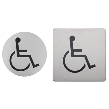 Urban Steel Brushed Stainless Steel Disabled Sign - Round or Square
